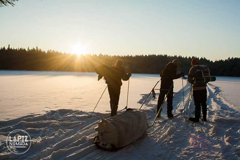 Nuuksio National Park: un trekking con raquetas de nieve