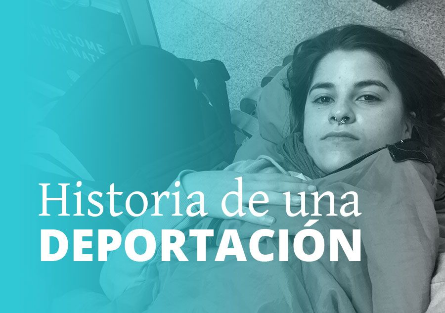 historia de una deportación de los Estados Unidos